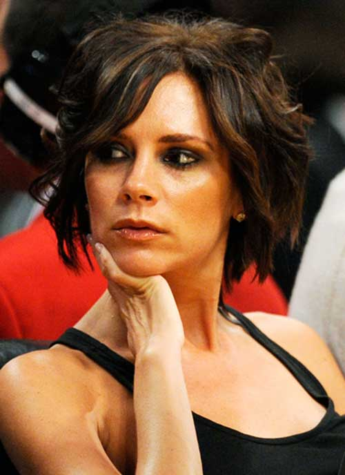 victoria beckham short layered bob