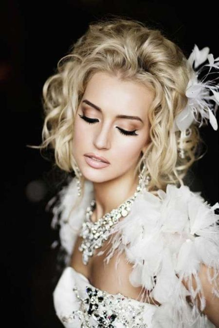 59 stunning wedding hairstyles for short hair 2017 wavy bob hairstyle for wedding3 junglespirit Images