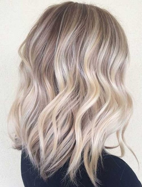 Ash Blonde Ombre Highlights for Medium Hair