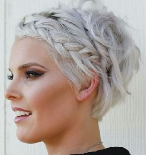 Braided Long Pixie Haircut