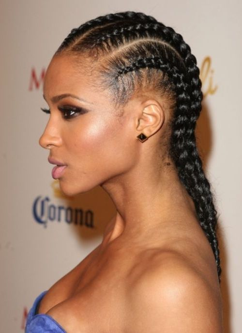Braids into a Low Ponytail