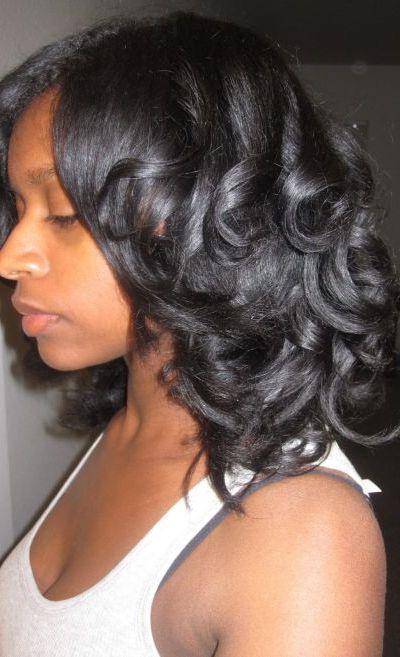 Casual Black Curls