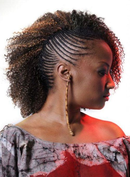 Cornrow Braids Ponytail