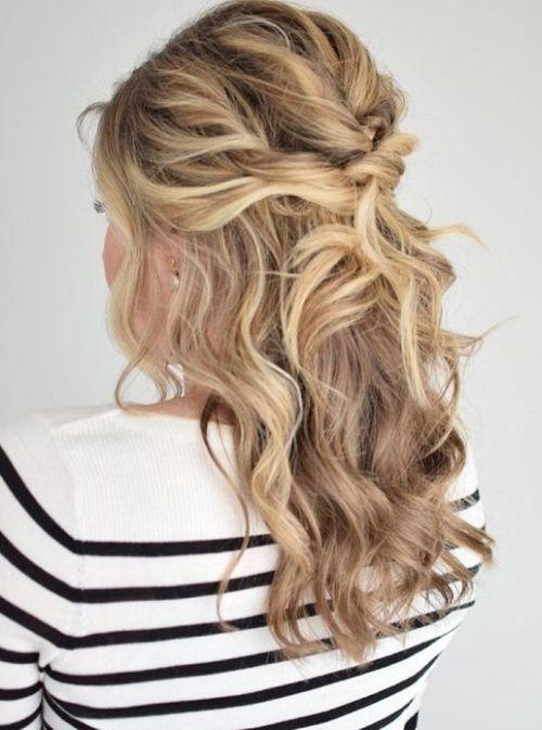 half up wavy long hairstyles - photo #35