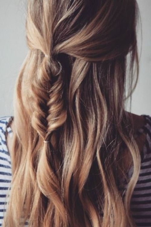 Fishtail in Loose Hair
