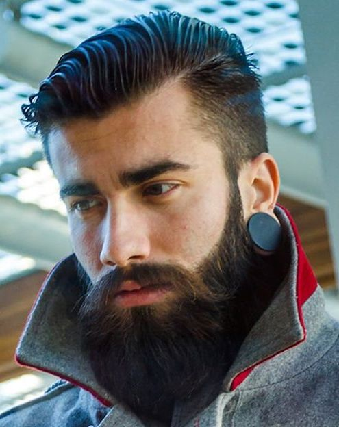 Full Beard with Long Mustache for Men 2016