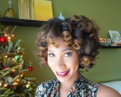 funky short curls