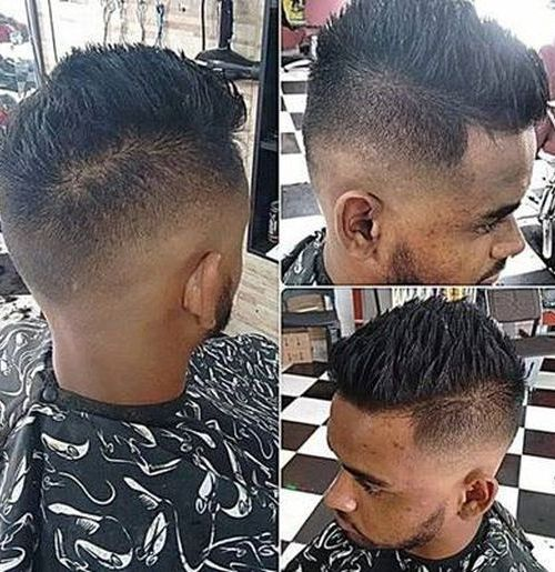 High Fade with Spiky Haircut for black man