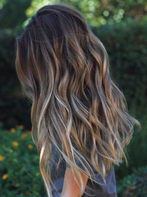 Long Ash Blonde Ombre Brown Hair