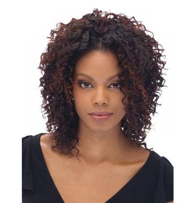 Medium Length Hair with Weave Curls