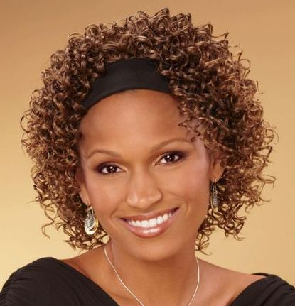 Short Curly Hairstyles with Headbands