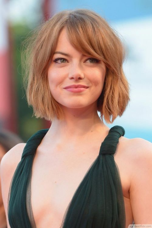 Side Swept Short Bob