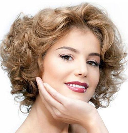 Hairstyles For Oval Faces With Pointy Chins : 111 amazing short curly hairstyles for women to try in 2017