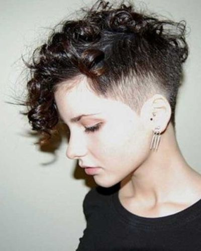 Short Curly Hairstyles Shaved Side , Hairstyles By Unixcode