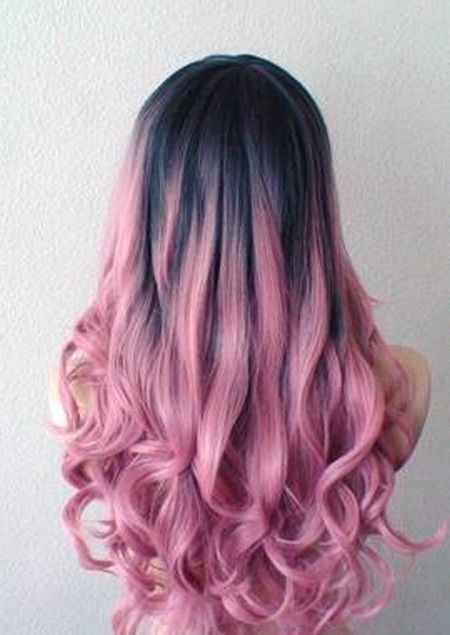 Cotton candy pink ombre