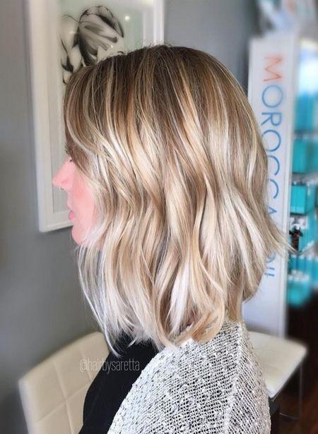 Natural Blonde Balayage for Thin Hair: