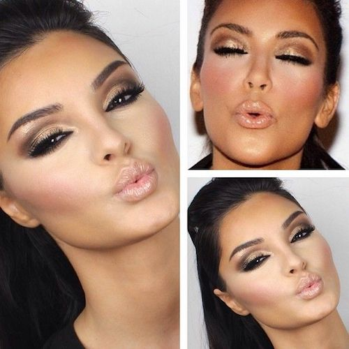 Contouring & Highlighting Makeup To Look Like Kim Kardashian