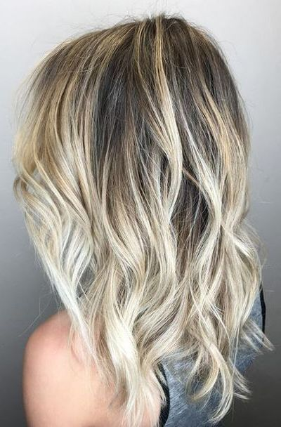 Ash blonde beach waves