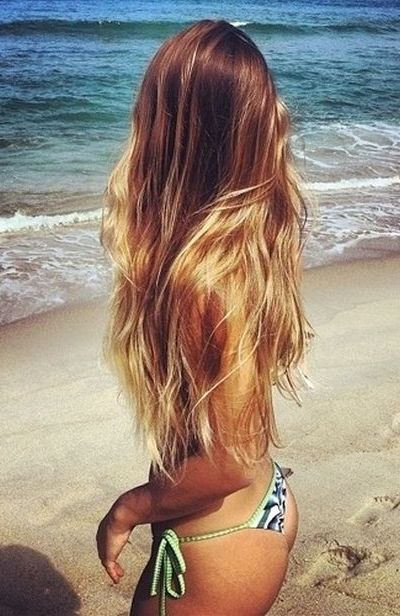 Beachy blonde ombre hairstyle
