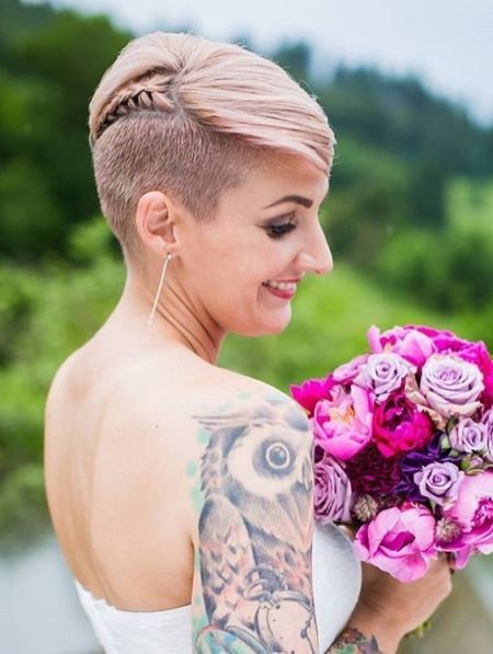 Beautiful pixie sidecut and braids