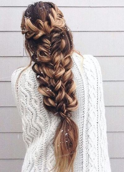 blonde fishtail