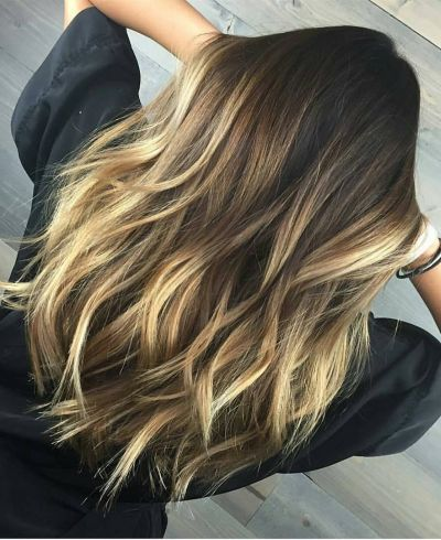 Red Blonde And Dark Brown Hair Hairs Beautiful Base With Bright Black Highlights Gallery Extension