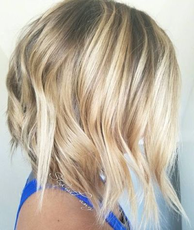 Choppy balayage beach waves