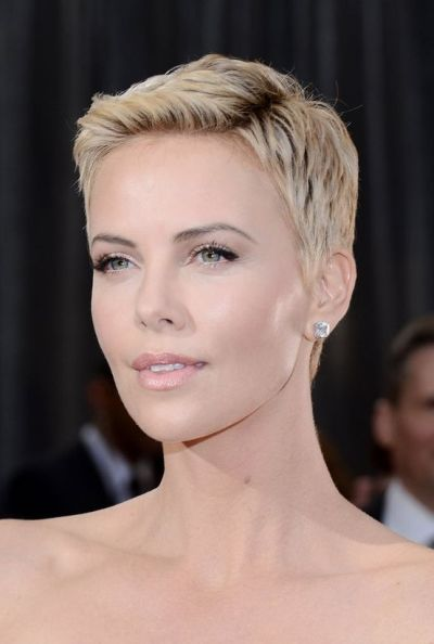 Classic blonde clean cut hairstyle