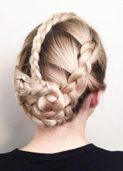 Creative blonde braids