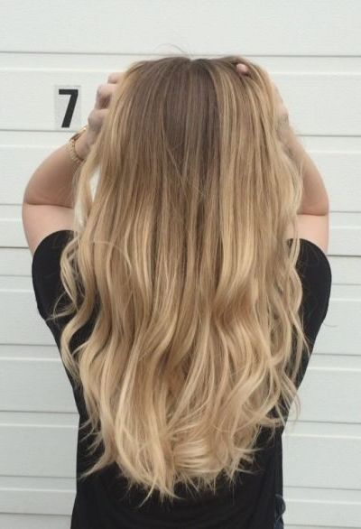 Honey Beach Blonde Hairstyle