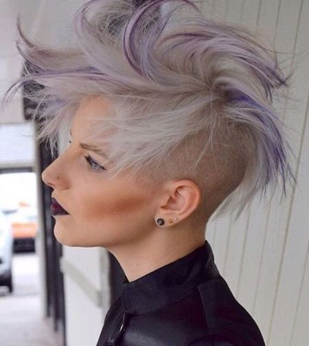 Long pixie undercut haircut