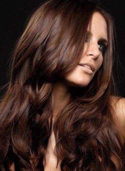 Mocha brown curls for olive skin