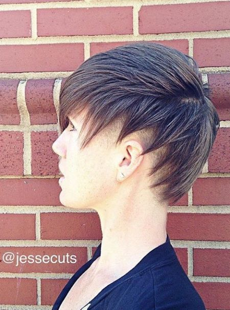 Modern layered undercut pixie haircut