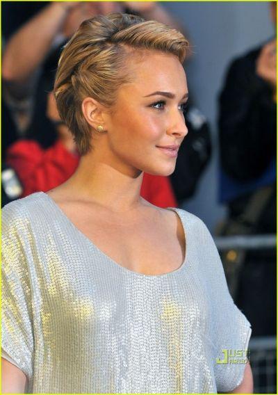 Neat and classy honey blonde updo