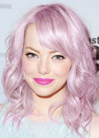 Perfect pastel lilac hair color