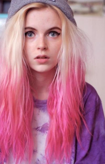 Pink hair color for fair skin
