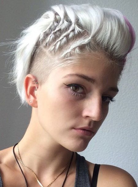 Female shaved hairstyles