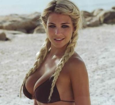 Summer blonde double fishtail hairstyle