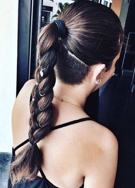Thick braid hair rings and undercut