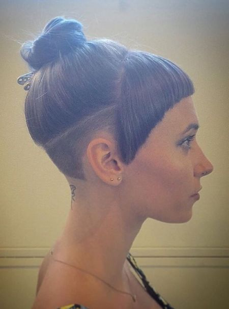 Undercut and bangs for women