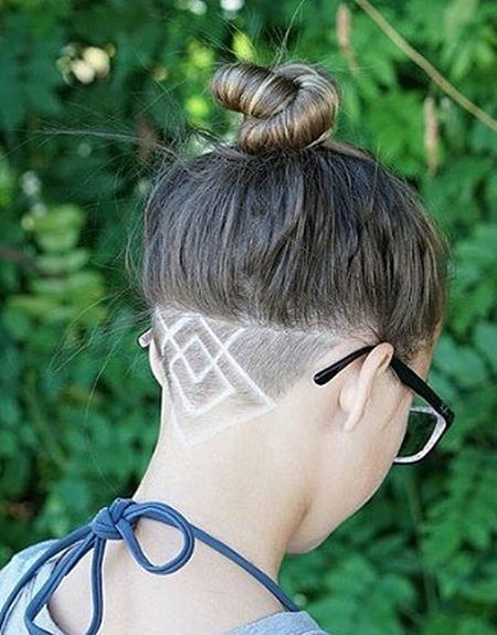 Undercut with a top knot