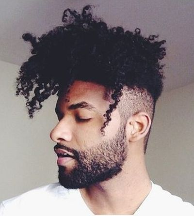 Afro fade haircut for men
