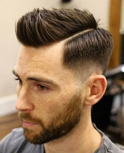 Asymmetrical low fade haircut
