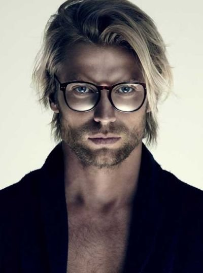medium hair styles men 65 striking medium length hairstyles for the 2499 | Blonde Straight Medium Length Hairstyle for Men