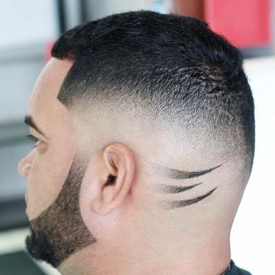 Blowout fade haircut