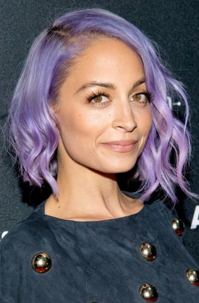 Bold purple hair color for olive skin tone