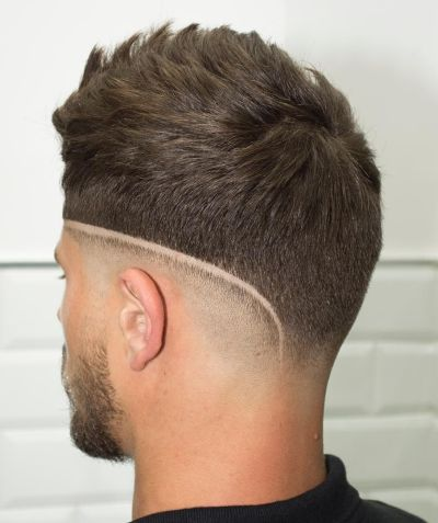 Choppy fade haircut