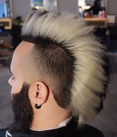 Classic mohwak and fade haircut