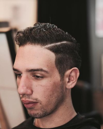 Clean haircut for curly hair