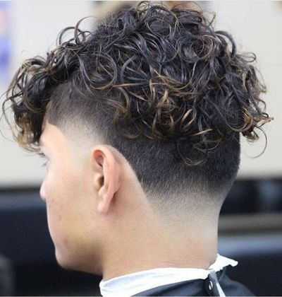 Curly locks with back and side undercut